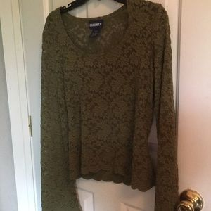 Sheer green lace sweater